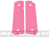 Matrix Operators Nylon Fiber Hand Grip For 1911 Airsoft Gas Blowback Pistols - Pink