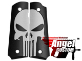Angel Custom CNC Aluminum Grip Panels for WE KWA Tokyo Marui and Real Steel 1911 (Style: SEAL Skull)