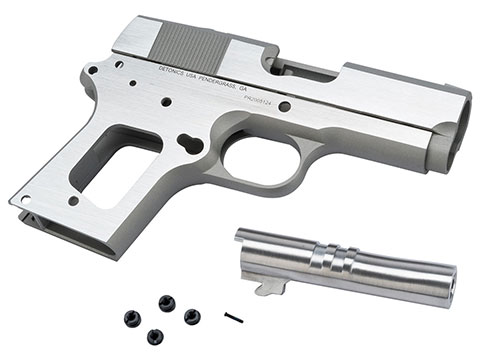 z Guarder Aluminum Guarder Slide and Frame Kit for Detonics Combat Master Pistols - Late Trademarks (Color: Silver Cerakote)