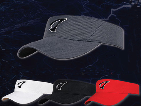 Jigging Master 3D Logo Visor Fishing Golf Cap (Color: Black)