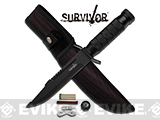 Survivor 9.5 Survival Knife with Nylon Sheath - Black
