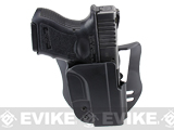 Blade-Tech Revolution Paddle Holster w/ Adjustable Belt Attachment (Model: Glock 26 / Black / Right Hand)
