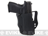Blade-Tech Revolution Paddle Holster w/ Adjustable Belt Attachment (Model: Springfield XD 9mm 4 / Black / Right Hand)