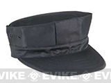 U.S. Military Government Spec US Marine Style Fatigue Cap (No Emblem) - Black