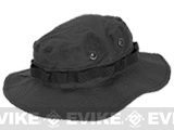 Matrix Lightweight Rip Stop Jungle Boonie Hat (Color: Black / Small)