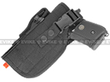 Shooter's Universal Tactical Quick Draw Belt / MOLLE holster w/ Mag pouch (Left Hand) - Black
