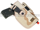 Shooter's Universal Quick Draw Tactical Belt / MOLLE holster w/ Mag pouch - Right Hand (Color: Desert Camo)