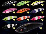 Jigging Master Ocean Devil 7 120g Surface Sinking Pencil (Color: #01 Black Stripe Luminous)