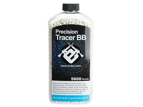 Evike.com Match Grade 6mm Airsoft Tracer BBs (Weight: Green Tracer / .20g / 5600 Rounds)