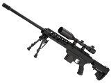 King Arms MDT TAC21 Gas Powered Airsoft Sniper Rifle (Color: Black)