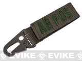 MOLLE Ready Blood Type Keychain - Foliage Green - AB Positive