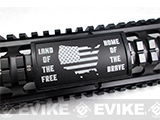 Custom Gun Rails Large Laser Engraved Aluminum Rail Cover (Type: Land of the Free / 20mm Picatinny Rail Version)