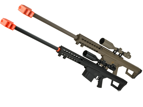 Lancer Tactical LT-20B M82 Polymer Spring Powered Airsoft Sniper Rifle (Color: Black)