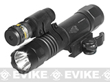 UTG LED Weapon Flashlight and W/E Adjustable Red Laser Combo, 10 Positions