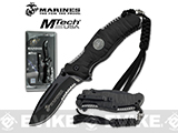 USMC Marine Reaper Assisted Opening Folding Knife with 3 5/8 Blade - Black