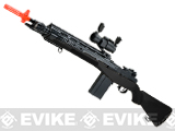 AGM M14 SOCOM Airsoft Spring Powered Rifle Package - Black