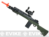 AGM M14 SOCOM Airsoft Spring Powered Rifle Package - OD Green