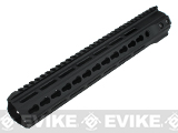 ICS Full Metal Free Float Tubular Keymod Handguard for M4 / M16 Series Airsoft AEG Rifles - 12.5