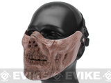 6mmProShop Zombie Iron Face Lower Half Mask - Dried Bone
