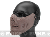 6mmProShop Zombie Iron Face Lower Half Mask (Color: Tan)