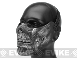 6mmProShop Zombie Iron Face Lower Half Mask (Color: Silver)