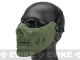 6mmProShop Zombie Iron Face Lower Half Mask - OD Green