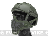 6mmProShop Iron Face Mesh Striker V1 Lower Half Mask for Use with Bump Helmets (Color: OD Green / Skull)