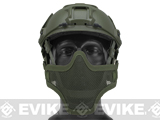 6mmProShop Iron Face Mesh Striker V1 Lower Half Mask for Use with Bump Helmets (Color: OD Green)