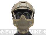 6mmProShop Iron Face Mesh Striker V1 Lower Half Mask for Use with Bump Helmets (Color: Tan)