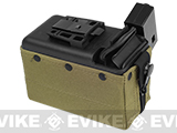 MAG 1500rd M249 Electric Winding Cartridge Pouch w/ Remote (Color: Tan)