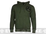 Magpul� Sweatshirt, Full Zip Hoodie - Olive Heather / Large