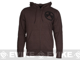 Magpul� Sweatshirt, Full Zip Hoodie - Burgundy Heather (Size: Small)