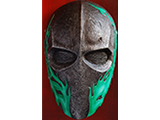 "Evike.com R-Custom Fiberglass Wire Mesh ""Army 40D"" Mask - Green Flames"
