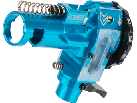 EMG / Maxx Model CNC Aluminum Hopup Chamber for M4 / M16 Series Airsoft AEG Rifles (Model: ME - PRO / EMG Blue)