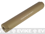 CQB Master 180mm Airsoft Pro Barrel Extension / Mock Suppressor System - Dark Earth