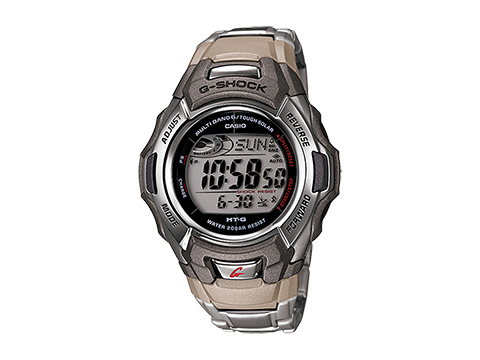 Casio Mens G-Shock Stainless Steel Tough Solar Atomic Digital Watch