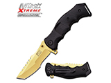 M-Tech USA Xtreme MX-A805 Assisted Opening Knife with 4 Blade - Black and Gold