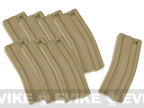 MAG 130 rd Midcap Magazine for M4 / M16 Series Airsoft AEG (Box Set of 8) - Dark Earth