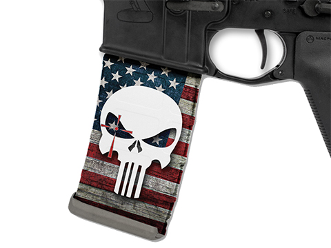 USA Punisher Mag Wraps® Chris Kyle Punisher Series (Color: Red, White and Blue)
