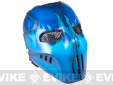 "Evike.com R-Custom Fiberglass Wire Mesh ""Blue Flame"" Mask Inspired by Brink"