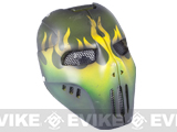"Evike.com R-Custom Fiberglass Wire Mesh ""Green Flame"" Mask Inspired by Brink"