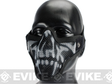 "Matrix Iron Face Carbon Steel ""Striker"" Metal Mesh Lower Half Mask - Skull"
