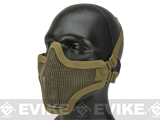 Matrix Iron Face Carbon Steel Mesh Striker V1 Lower Half Mask - Tan