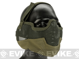 Matrix Iron Face Carbon Steel Striker Gen2 Metal Mesh Lower Half Mask (Color: Desert Tan)