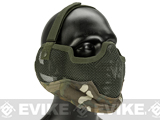 "Matrix Iron Face Carbon Steel ""Striker"" Gen2 Metal Mesh Lower Half Mask - Camo"