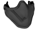 "Matrix Iron Face Carbon Steel ""Striker"" Metal Mesh Lower Half Mask (Black)"