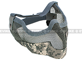 "Matrix Iron Face Carbon Steel ""Striker"" Gen2 Metal Mesh Lower Half Mask - ACU"