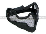"Matrix Iron Face Carbon Steel ""Striker"" Gen2 Metal Mesh Lower Half Mask - Black"