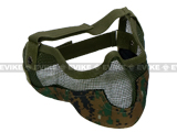 "Matrix Iron Face Carbon Steel ""Striker"" Gen2 Metal Mesh Lower Half Mask - Digital Woodland Marpat"
