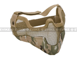 "Matrix Iron Face Carbon Steel ""Striker"" Gen2 Metal Mesh Lower Half Mask - Land Camo"
